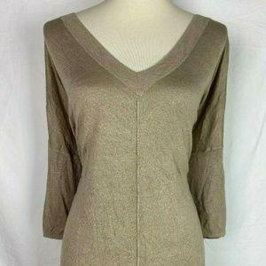 Lane Bryant Gold Shimmer Blouse Plus Size 22/24